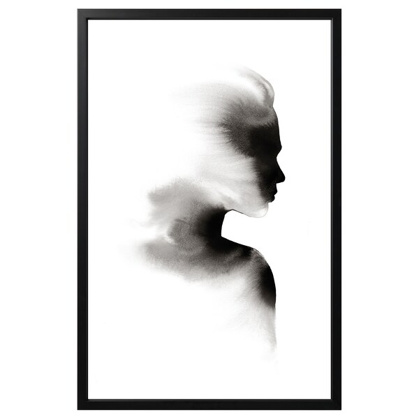 BJÖRKSTA Picture with frame, Vanishing Reflection/black, 78x118 cm