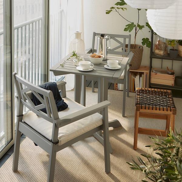 BONDHOLMEN Table, outdoor, grey, 65x65 cm