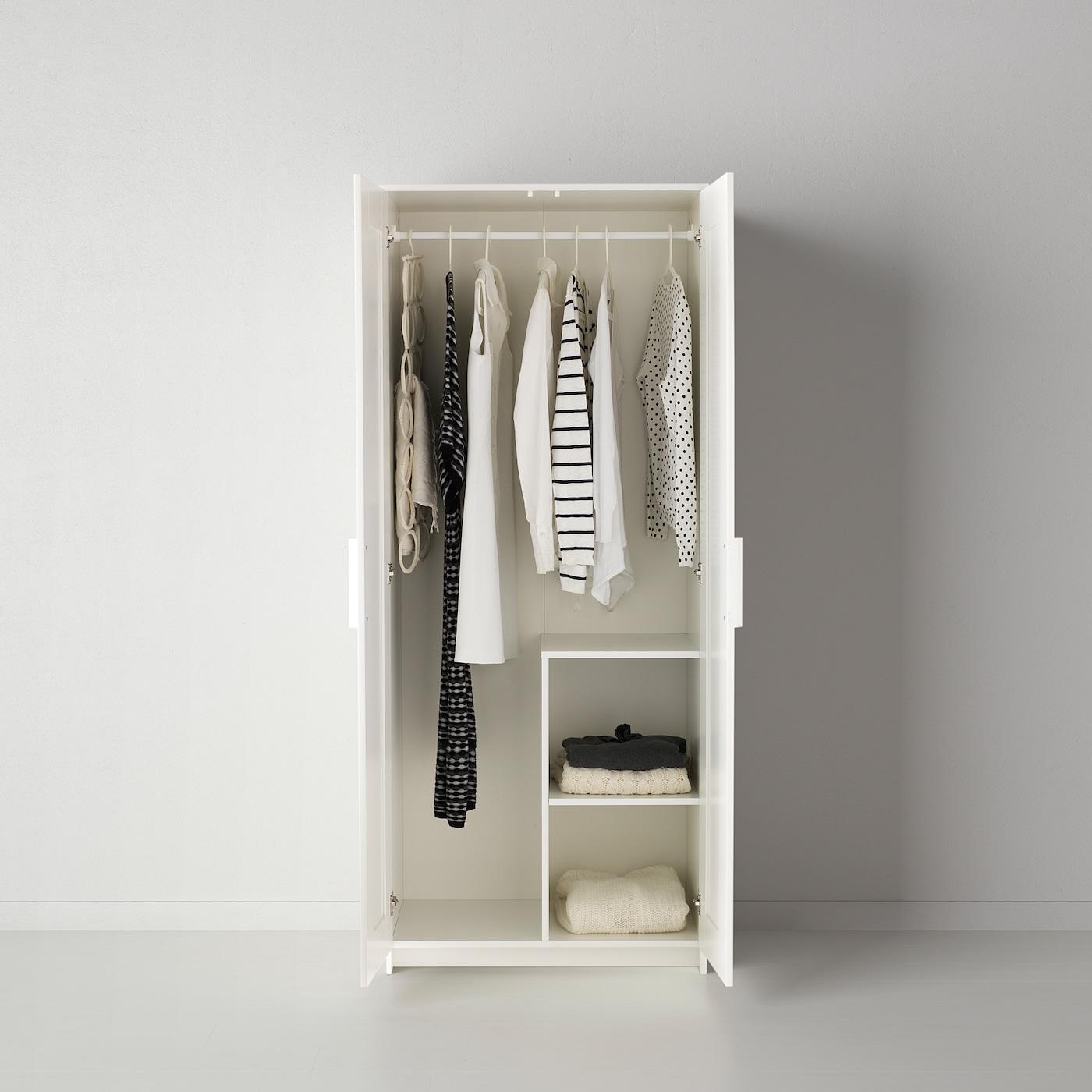 Brimnes Wardrobe With 2 Doors White Ikea Switzerland