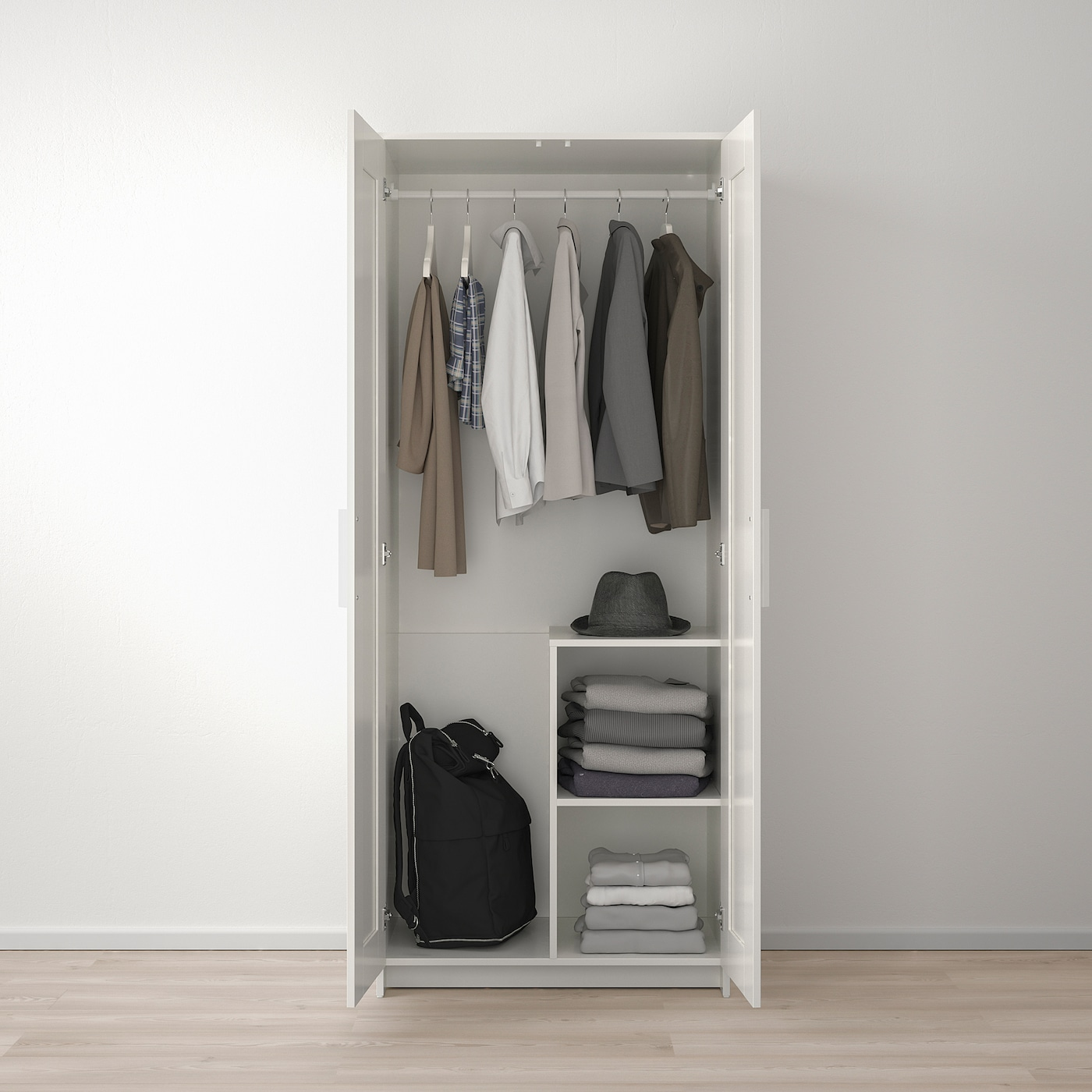 Brimnes Wardrobe With 2 Doors White Ikea Switzerland
