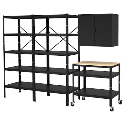 BROR Storage w shelves/cabinet/trolley