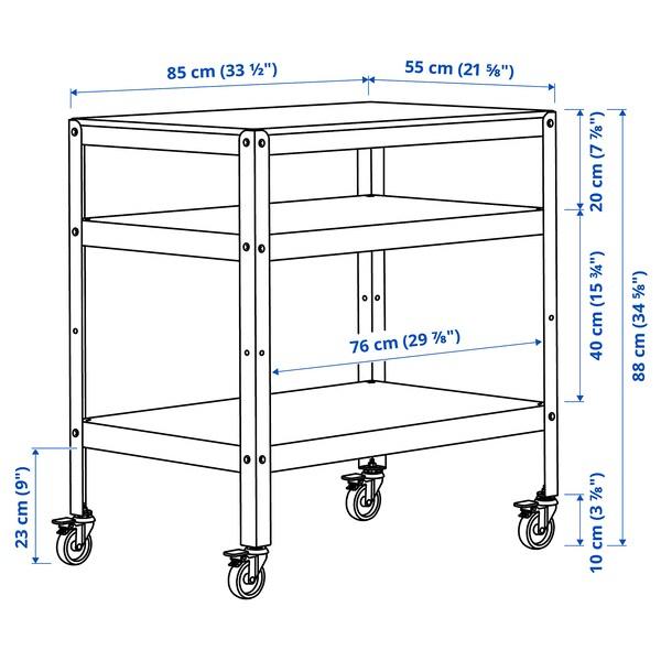 BROR Trolley, white, 85x55 cm