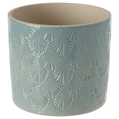 CHIAFRÖN Plant pot, in/outdoor light blue, 12 cm