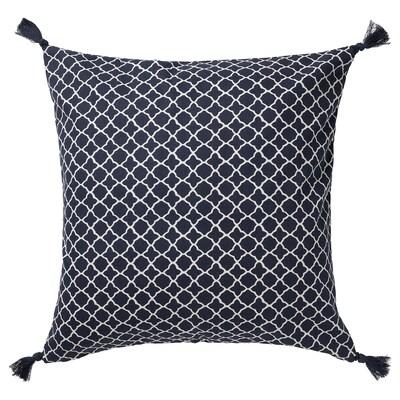 CITRUSTRÄD Cushion cover, blue/white, 50x50 cm