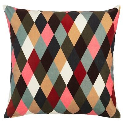 DEKORERA Cushion cover, diamond pattern multicolour, 50x50 cm