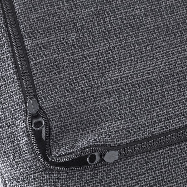 DELAKTIG cover for seat cushion, armchair Hillared anthracite