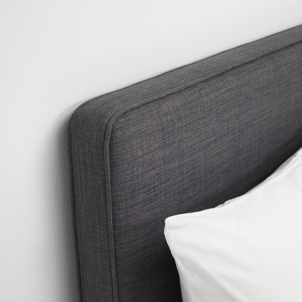 DUNVIK Divan bed, Hyllestad firm/Tussöy dark grey, 180x200 cm