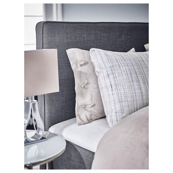 DUNVIK Divan bed, Hyllestad medium firm/Tussöy dark grey, 140x200 cm