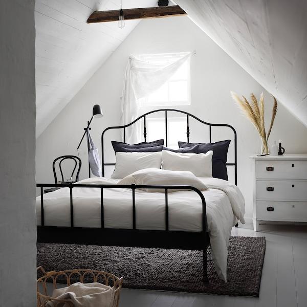 DVALA Duvet cover and 2 pillowcases, white, 240x220/50x60 cm
