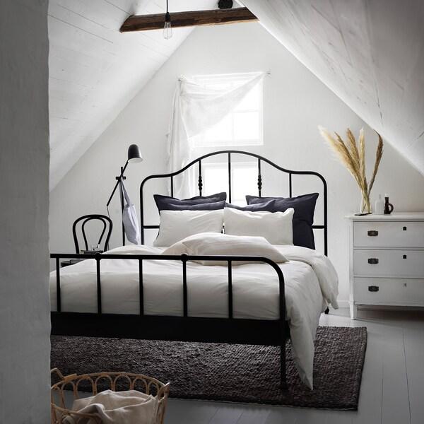 DVALA Duvet cover and pillowcase, white, 150x200/50x60 cm