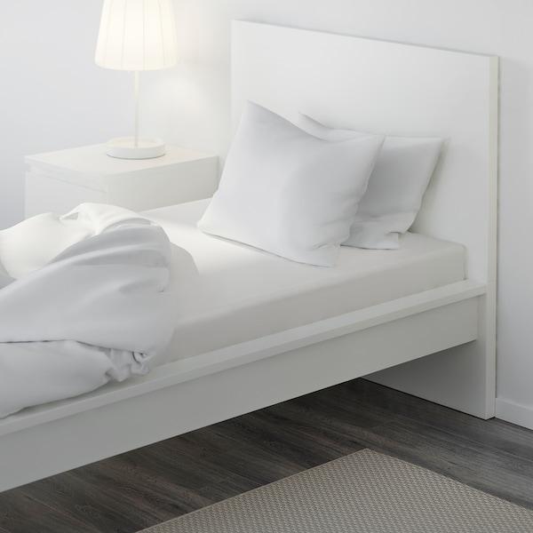DVALA Fitted sheet, white, 80x200 cm