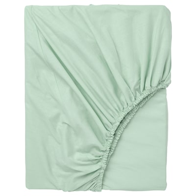 DVALA fitted sheet light green 152 /inch² 200 cm 140 cm 26 cm