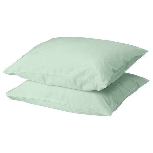 DVALA Pillowcase, light green, 50x60 cm