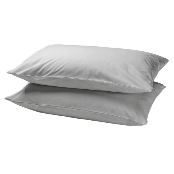 DVALA Pillowcase, light grey, 50x60 cm