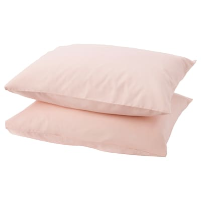DVALA pillowcase light pink 152 /inch² 1 pack 50 cm 60 cm 2 pack