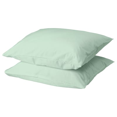 DVALA pillowcase light green 152 /inch² 2 pack 50 cm 60 cm 2 pack