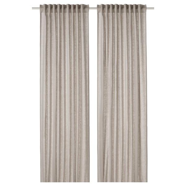 DYTÅG Curtains, 1 pair, light grey, 145x300 cm