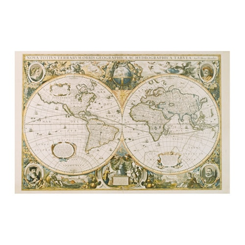EDELVIK - Poster, vintage world map
