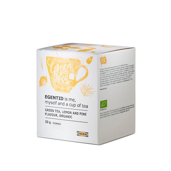 EGENTID Green tea, lemon/pine/UTZ certified/organic, 50 g