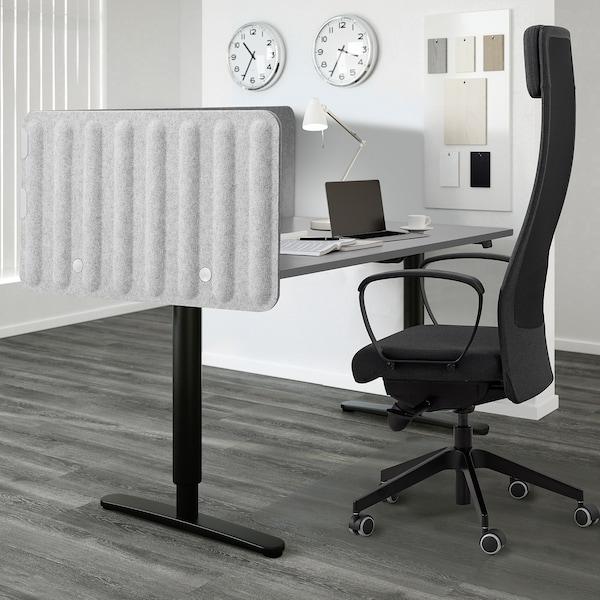 EILIF Screen for desk, grey, 120x48 cm