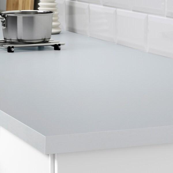 EKBACKEN Custom made worktop, light grey/laminate, 63.6-125x2.8 cm