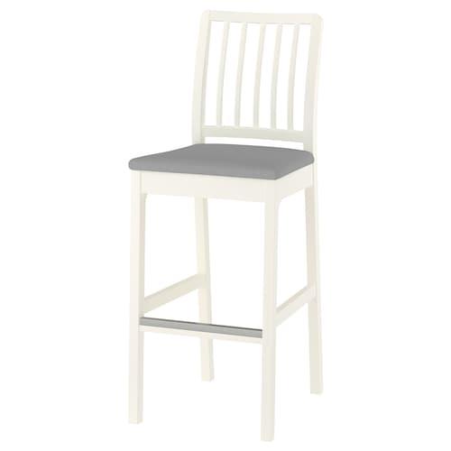 IKEA EKEDALEN Bar stool with backrest