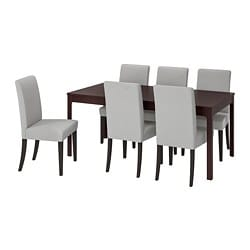 EKEDALEN /  HENRIKSDAL Table and 6 chairs