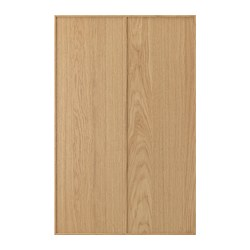 EKESTAD 2-p door f corner base cabinet set, oak