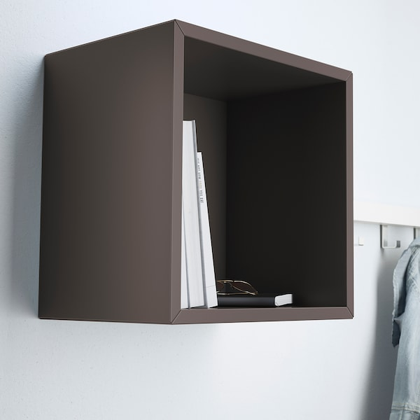EKET wall-mounted shelving unit dark grey 35 cm 25 cm 35 cm