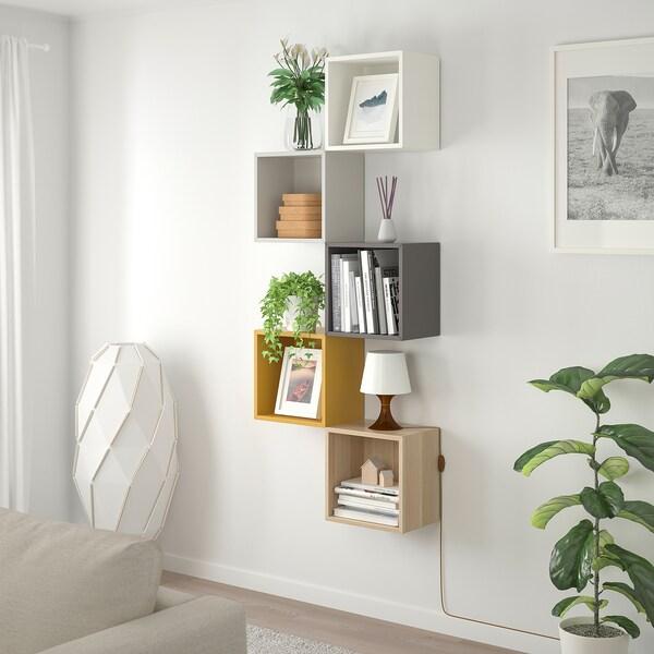 EKET Wall-mounted storage combination, multicolour 1, 70x25x175 cm