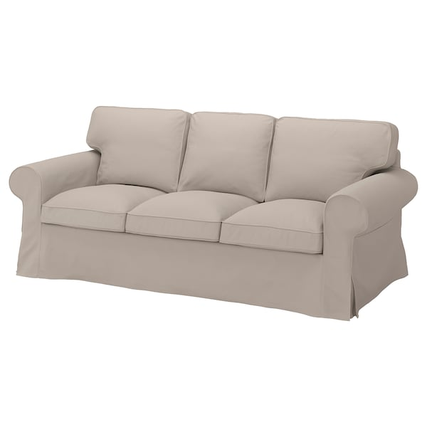 EKTORP Cover for 3-seat sofa, Totebo light beige