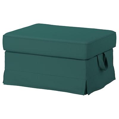 EKTORP Footstool, Totebo dark turquoise
