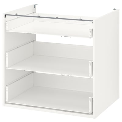 ENHET Base cb w 3 drawers, white, 80x60x75 cm
