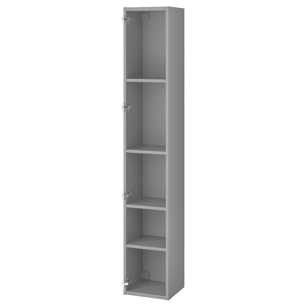 ENHET High cb w 4 shelves, grey, 30x30x180 cm