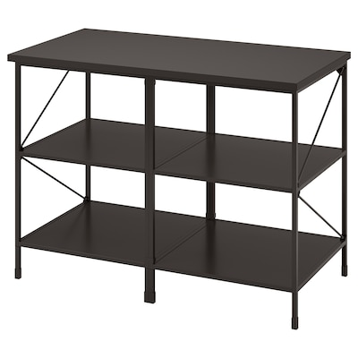 ENHET Kitchen island shelf unit, anthracite, 123x63.5x91 cm