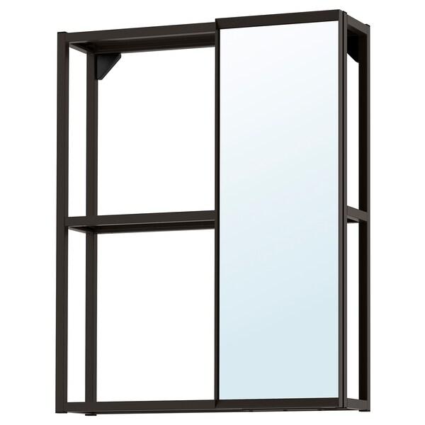 ENHET Mirror cabinet, anthracite, 60x15x75 cm