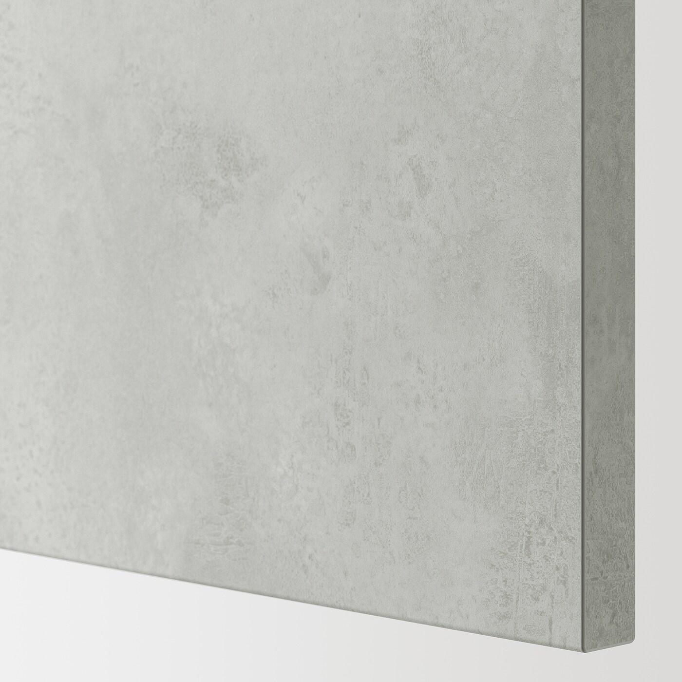ENHET Wall cb w 2 shlvs/door, white/concrete effect, 40x32x75 cm