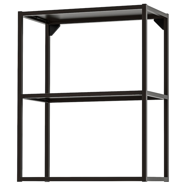 ENHET Wall fr w shelves, anthracite, 60x30x75 cm