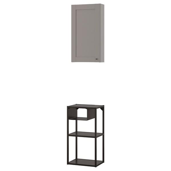 ENHET Wall storage combination, anthracite/grey frame, 40x30x150 cm