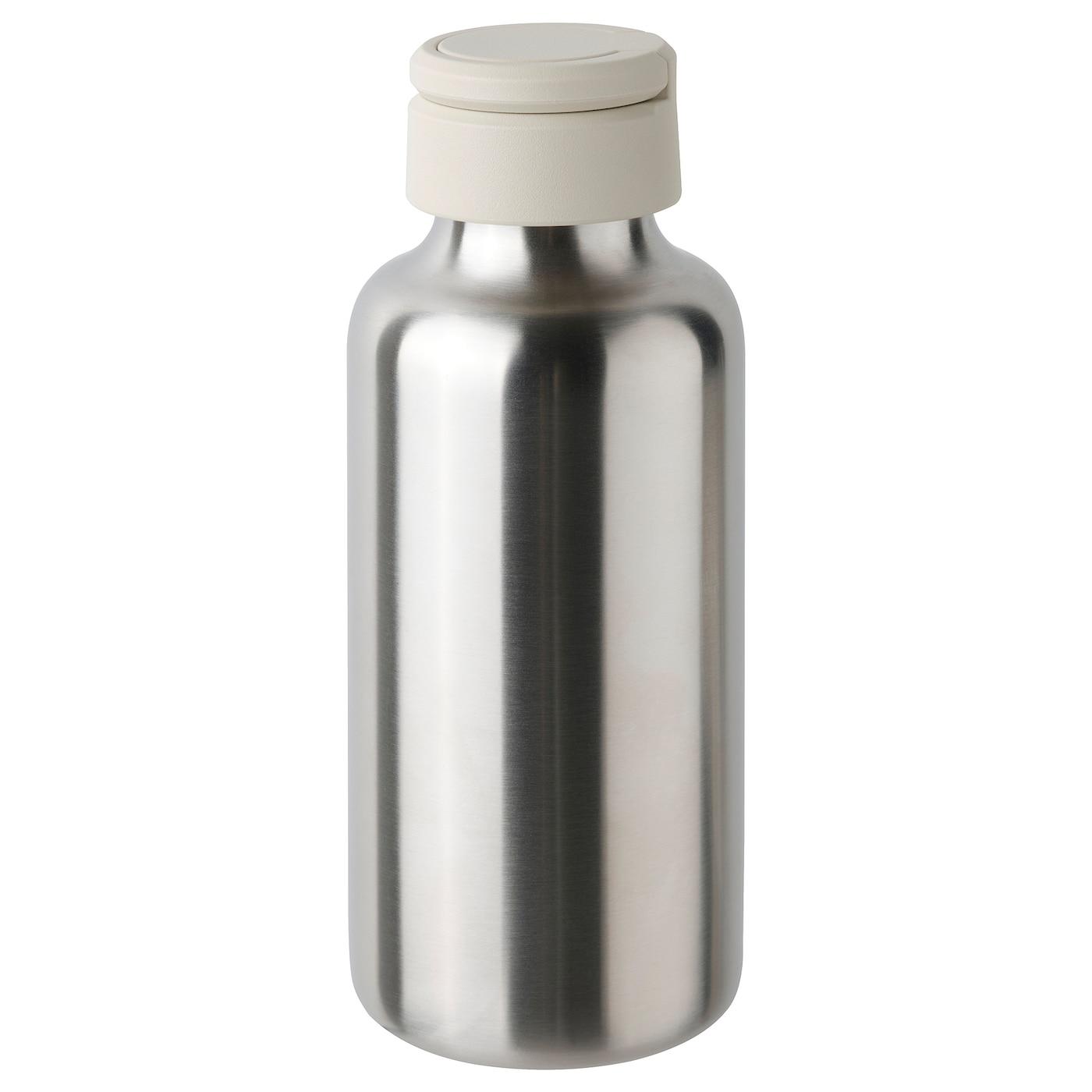ENKELSPÅRIG Water bottle - stainless steel/beige 0.5 l