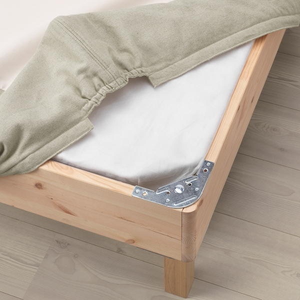 ESPEVÄR Sprung mattress base with legs, natural, 180x200 cm