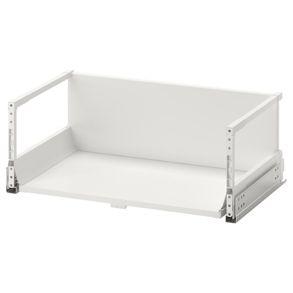 EXCEPTIONELL Drawer, high with push to open, white, 60x37 cm