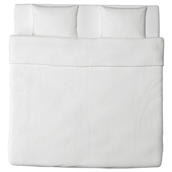 FÄRGMÅRA Duvet cover and 2 pillowcases, white, 240x220/50x60 cm