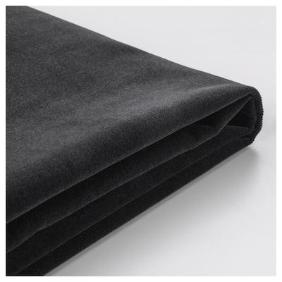 FÄRLÖV Cover for footstool with storage, Djuparp dark grey