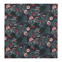 FILODENDRON fabric, dark blue, floral patterned
