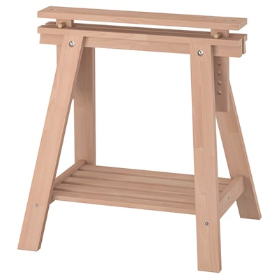 FINNVARD Trestle with shelf, beech, 70x71/93 cm