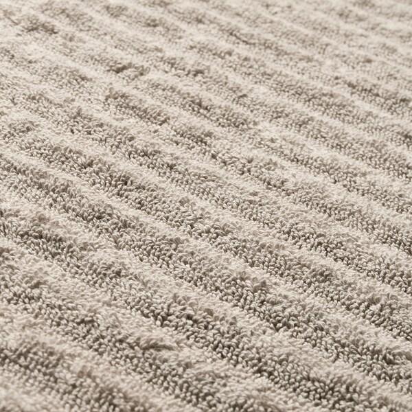FLODALEN Washcloth, dark beige, 30x30 cm