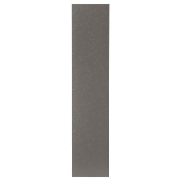 FLORNES Door, dark grey, 50x229 cm