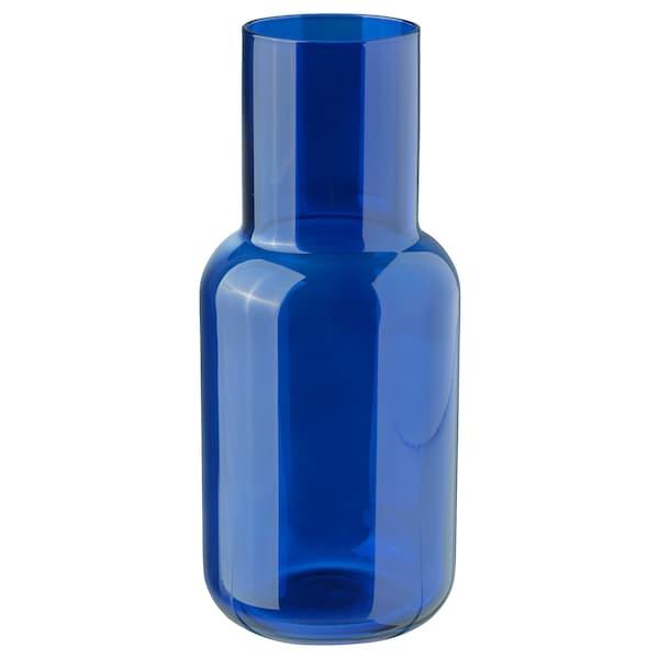 FÖRENLIG Vase, blue, 21 cm