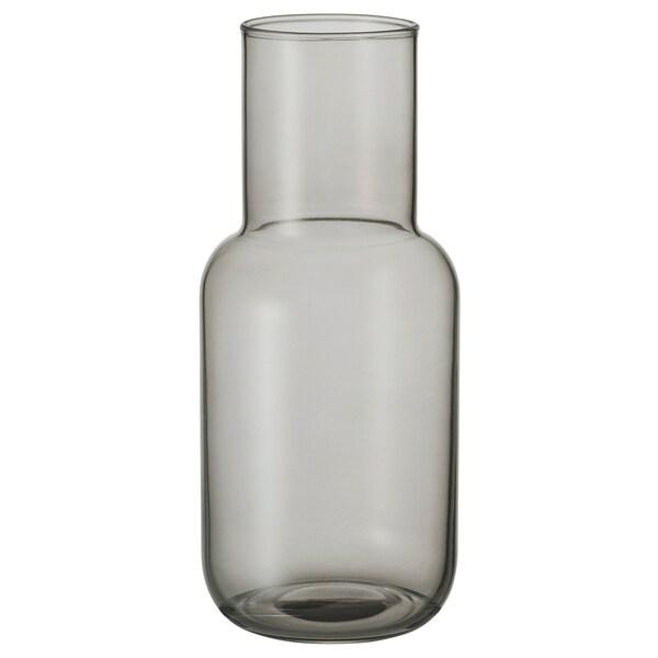 FÖRENLIG Vase, light grey, 21 cm